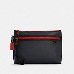 CARRYALL POUCH IN COLORBLOCK - QB/MIDNIGHT MULTI - COACH C4288