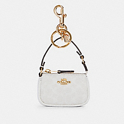 COACH C4310 - MINI NOLITA BAG CHARM IN SIGNATURE CANVAS IM/CHALK