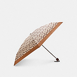 COACH C4322 - SIGNATURE MINI UMBRELLA SV/KHAKI SADDLE