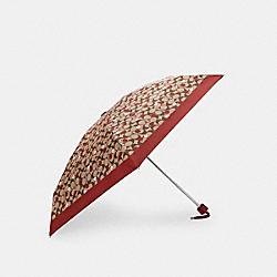 COACH C4323 Uv Protection Mini Umbrella In Signature Apple Print SV/KHAKI BRIGHT POPPY
