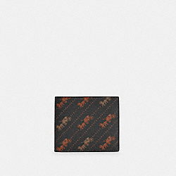 COACH C4332 - ID BILLFOLD WALLET WITH HORSE AND CARRIAGE DOT PRINT QB/BLACK MULTI