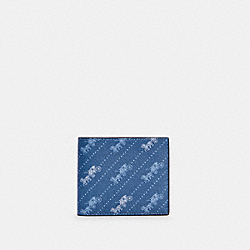 COACH C4332 - ID BILLFOLD WALLET WITH HORSE AND CARRIAGE DOT PRINT QB/PALE JEWEL BLUE
