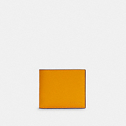 COACH C4333 - 3-IN-1 WALLET IN COLORBLOCK SIGNATURE CANVAS QB/OCHRE MULTI