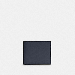 COACH C4333 - 3-IN-1 WALLET IN COLORBLOCK SIGNATURE CANVAS QB/MIDNIGHT NAVY CHARCOAL