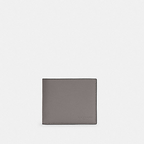 COACH C4333 3-IN-1 WALLET IN COLORBLOCK SIGNATURE CANVAS QB/HEATHER GREY CHALK