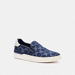 WELLS SLIP ON SNEAKER - DENIM - COACH C4394