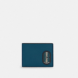 COACH C4413 - SLIM BILLFOLD WALLET IN COLORBLOCK WITH STRIPED COACH PATCH QB/MARINE MULTI