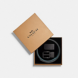 BOXED PLAQUE AND HARNESS BUCKLE CUT-TO-SIZE REVERSIBLE BELT, 38MM - QB/JEWEL BLUE MARINE - COACH C4423