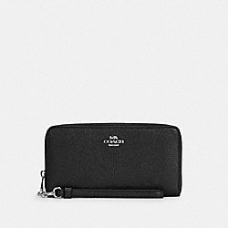 COACH C4451 - LONG ZIP AROUND WALLET SV/BLACK