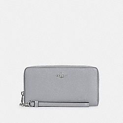 COACH C4451 - LONG ZIP AROUND WALLET SV/GRANITE