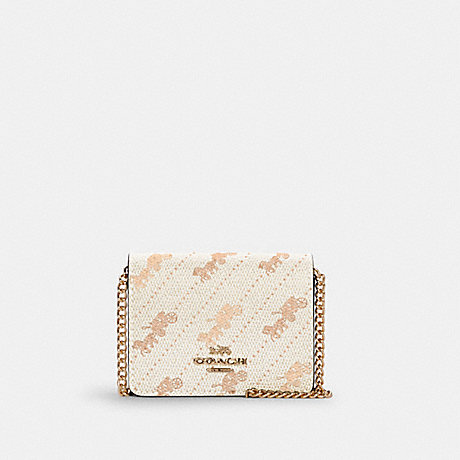 COACH C4477 MINI WALLET WITH HORSE AND CARRIAGE DOT PRINT IM/CREAM