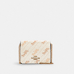 COACH C4477 - MINI WALLET WITH HORSE AND CARRIAGE DOT PRINT IM/CREAM