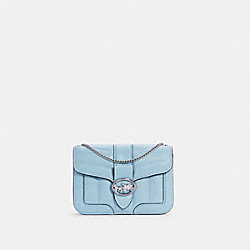 COACH C4519 - GEORGIE CROSSBODY WITH QUILTING SV/WATERFALL
