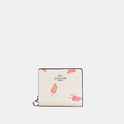 COACH C4529 Snap Wallet With Popsicle Print SV/CHALK MULTI