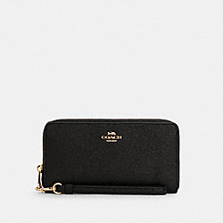 COACH C4666 Long Zip Around Wallet IM/BLACK