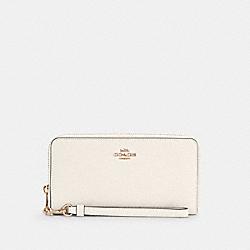 COACH C4666 Long Zip Around Wallet IM/CHALK