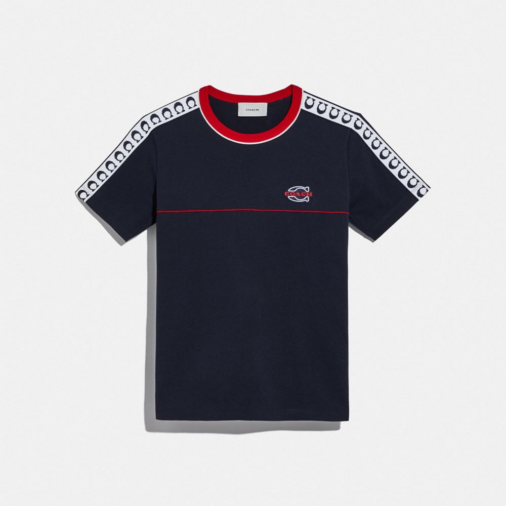 ATHLETIC T-SHIRT WITH SIDE PANELS