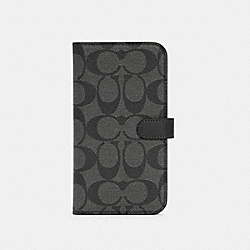 COACH C5091 - IPHONE 12 PRO MAX FOLIO IN SIGNATURE CANVAS CHARCOAL
