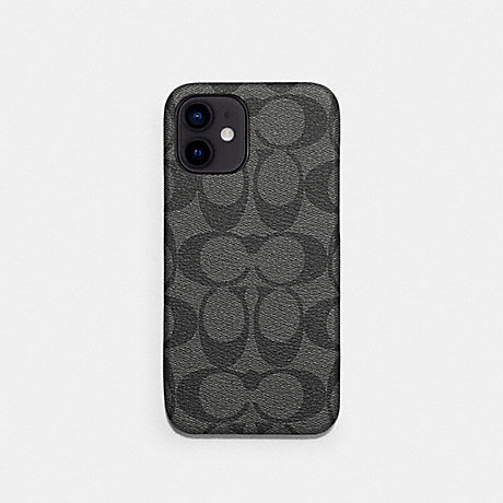 COACH C5094 IPHONE 12 PRO MAX CASE IN SIGNATURE CANVAS CHARCOAL