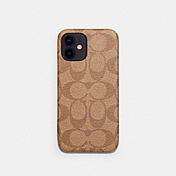 IPHONE 12 PRO MAX CASE IN SIGNATURE CANVAS - KHAKI - COACH C5094