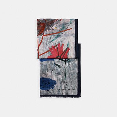 COACH X JEAN-MICHEL BASQUIAT オブロング スカーフ