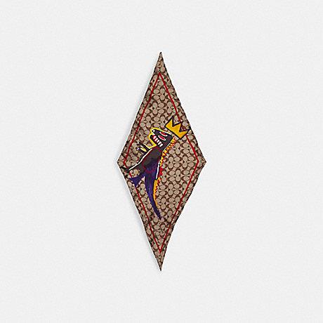 COACH C5135 COACH X JEAN-MICHEL BASQUIAT SILK DIAMOND KHAKI