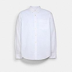 LONG SLEEVE OXFORD SHIRT - C5228 - WHITE.