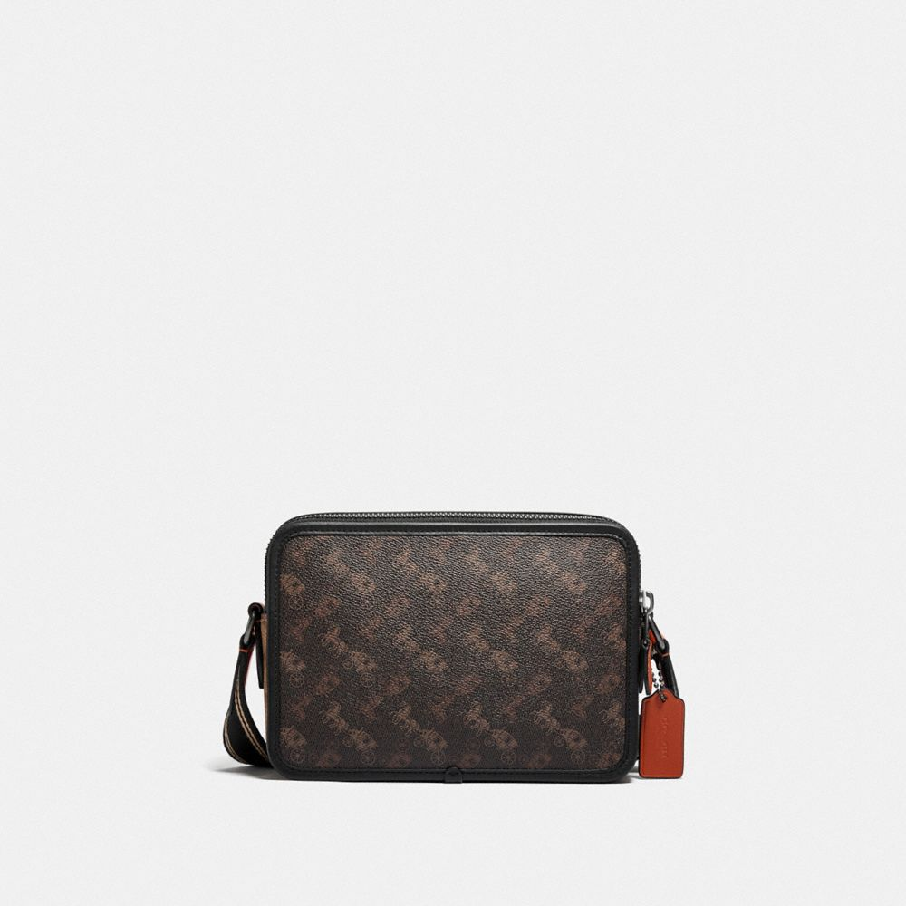 CHARTER CROSSBODY 24 WITH SIGNATURE HORSE AND CARRIAGE PRINT