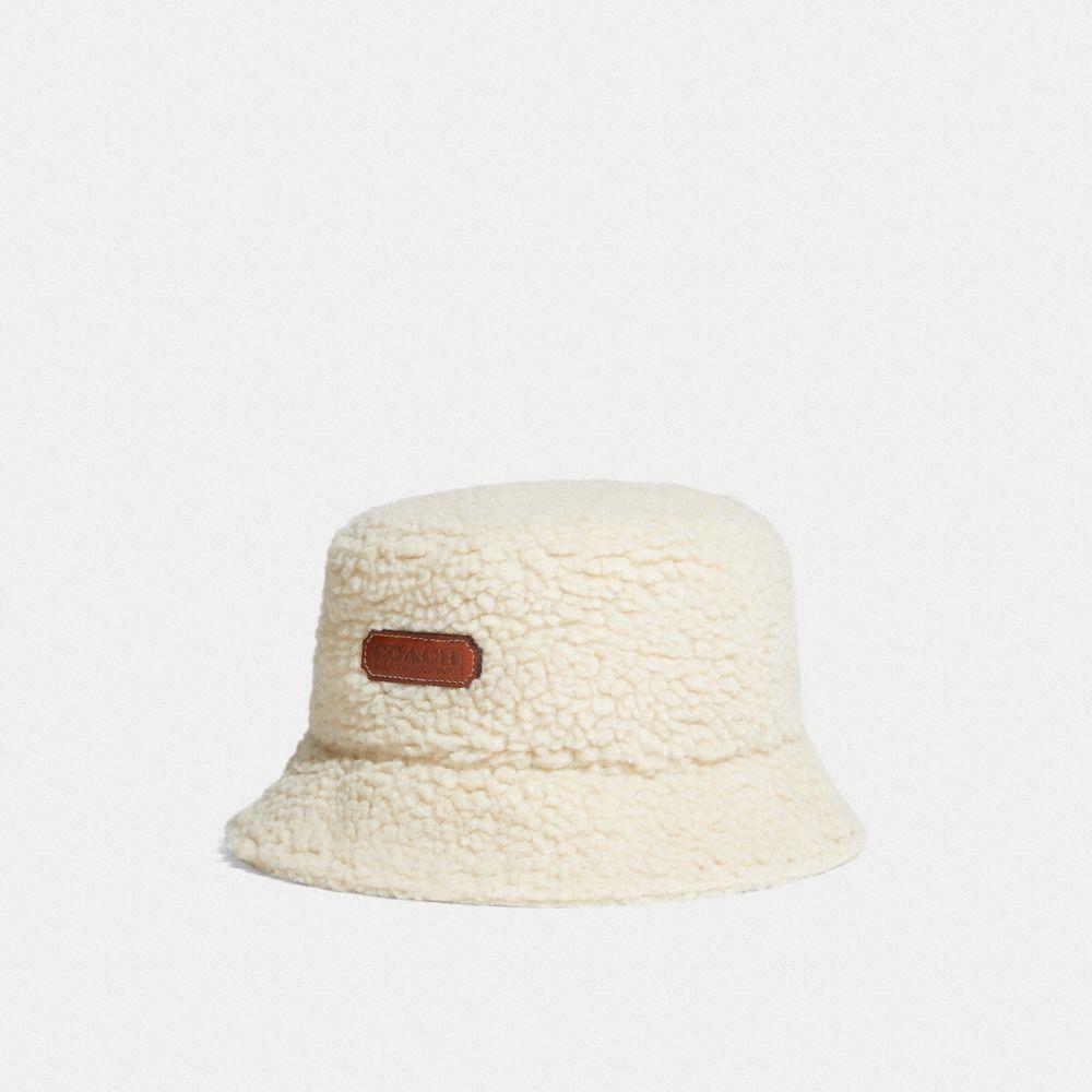 仿羔羊絨漁夫帽