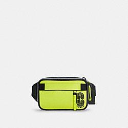 MINI EDGE BELT BAG - C5436 - QB/GLO LIME