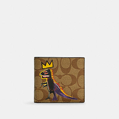 COACH X JEAN-MICHEL BASQUIAT コイン ウォレット シグネチャー キャンバス