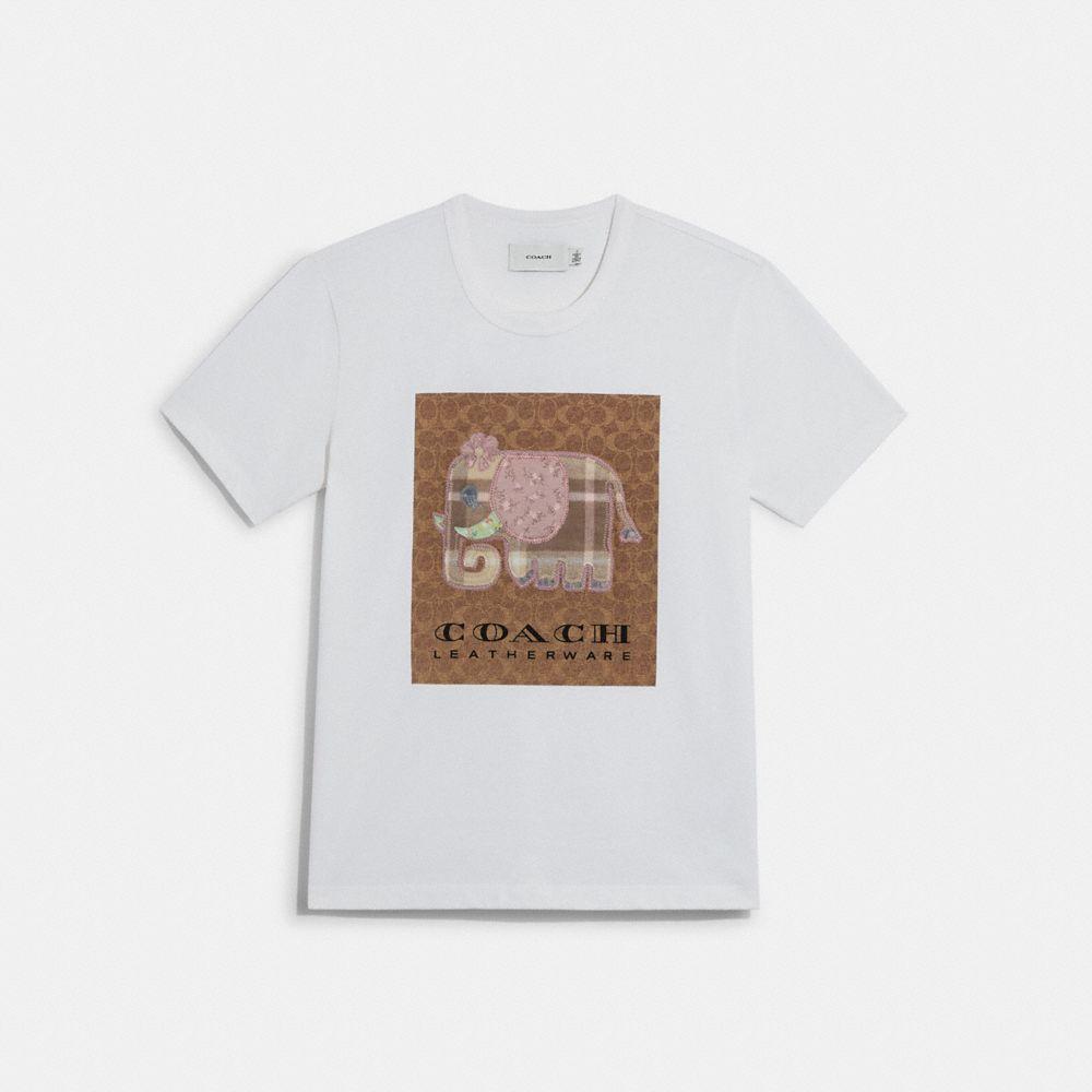 經典 SIGNATURE 大象圖案有機棉 T-SHIRT