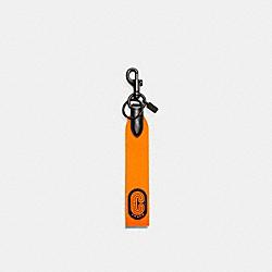COACH C5581 Loop Key Fob QB/FLUO ORANGE