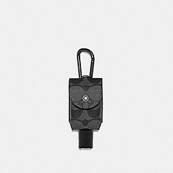 HAND SANITIZER HOLDER IN SIGNATURE CANVAS - C5593 - QB/CHARCOAL