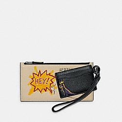 COACH X JEAN-MICHEL BASQUIAT POUCH TRIO - C5602 - QB/IVORY BLACK MULTI