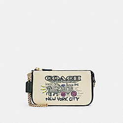 LARGE WRISTLET WITH ART SCHOOL GRAPHIC - C5609 - IM/NATURAL MULTI