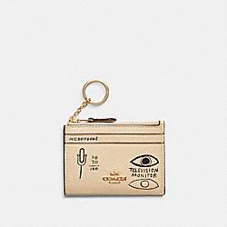COACH C5618 Coach X Jean-michel Basquiat Mini Skinny Id Case IM/IVORY/MULTI