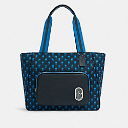 COURT TOTE WITH BADLAND FLORAL PRINT - C5669 - SV/MIDNIGHT MULTI