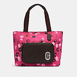 COURT TOTE WITH HALFTONE FLORAL PRINT - C5670 - IM/CONFETTI PINK MULTI