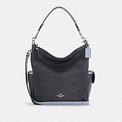 PENNIE SHOULDER BAG - C5673 - SV/MIDNIGHT MULTI