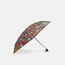COACH C5710 Uv Protection Mini Umbrella In Signature Vintage Rose Print KHAKI/PINK