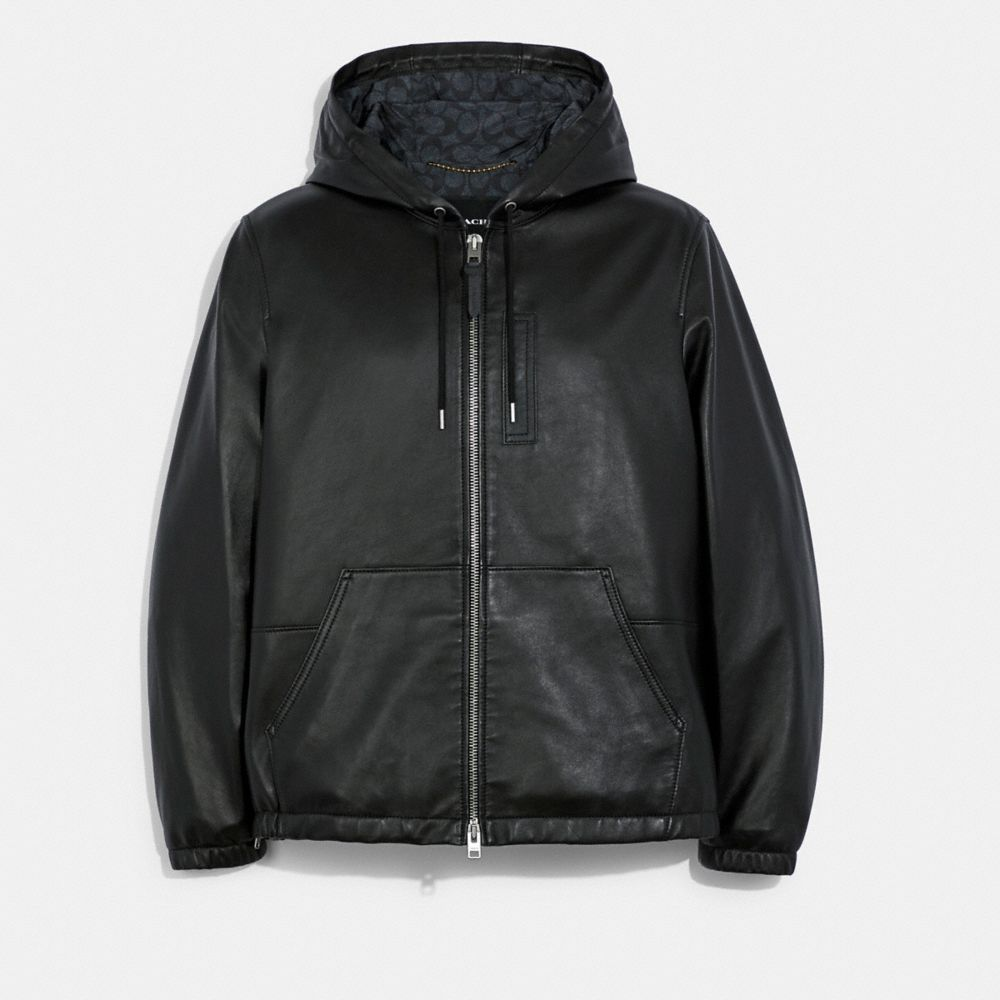 皮革運動風夾克