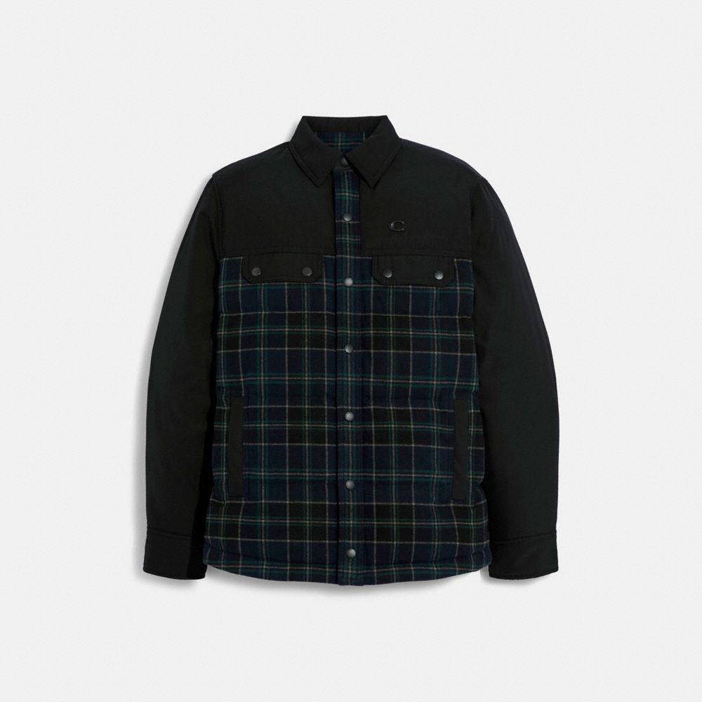 異材質拼接襯衫夾克