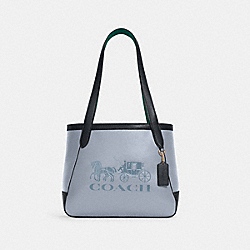 TOTE 27 IN COLORBLOCK WITH HORSE AND CARRIAGE - C5775 - IM/TWILIGHT MULTI
