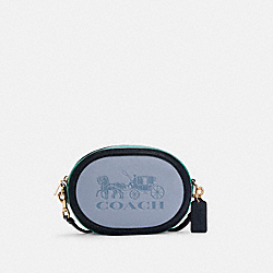 CAMERA BAG IN COLORBLOCK WITH HORSE AND CARRIAGE - C5777 - IM/TWILIGHT MULTI