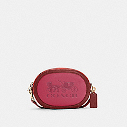 CAMERA BAG IN COLORBLOCK WITH HORSE AND CARRIAGE - C5777 - IM/BRIGHT VIOLET MULTI
