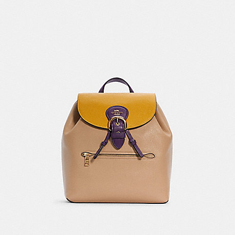 COACH C5788 KLEO BACKPACK IN COLORBLOCK IM/TAUPE MULTI
