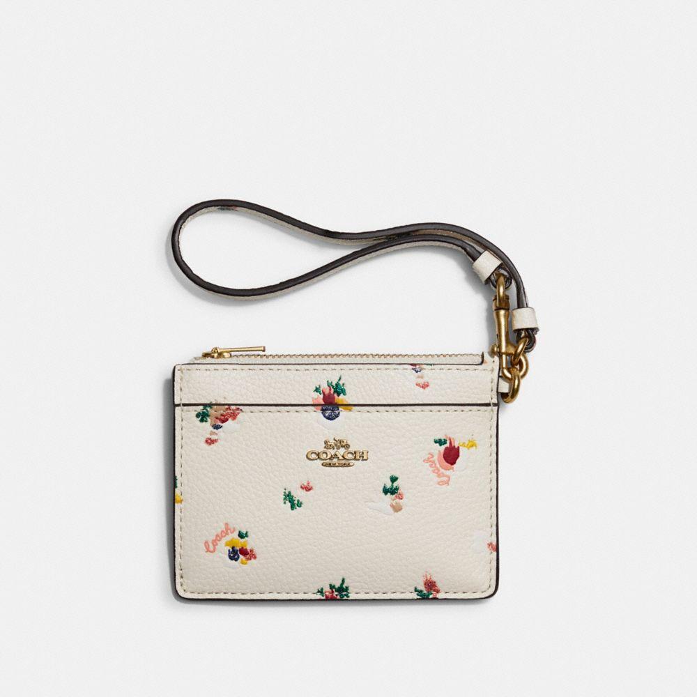 花卉印花卡夾手腕包