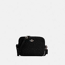 MINI CAMERA BAG IN SIGNATURE LEATHER - C5897 - IM/BLACK