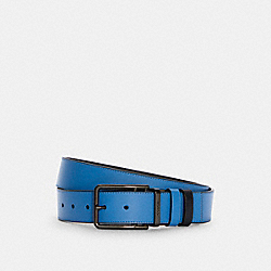 DOUBLE BAR BUCKLE CUT-TO-SIZE REVERSIBLE BELT, 38MM - C5939 - QB/RACER BLUE/MIDNIGHT NAVY